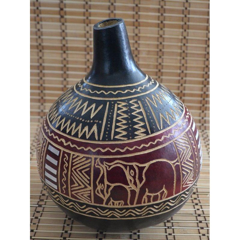afrikanische kalabasse 4 vase deko rhythmussinstrument 29 95 eu. Black Bedroom Furniture Sets. Home Design Ideas
